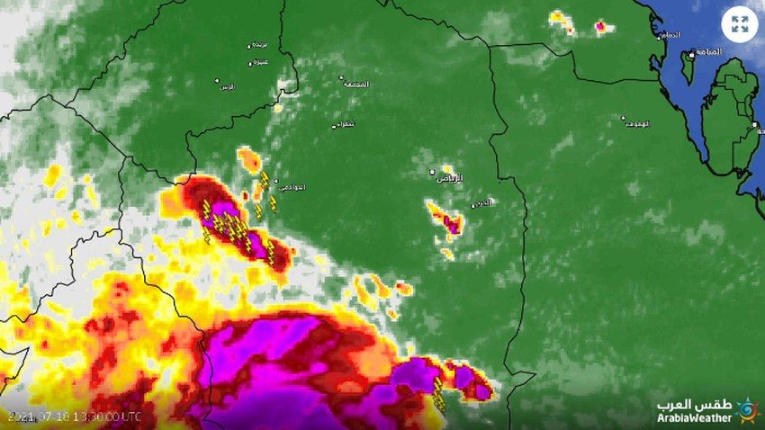 الرياض الآن |  تحديث 5:05م - سُحب رعدية تتطور جنوباً قد  تؤثر على العاصمة الساعات القادمة