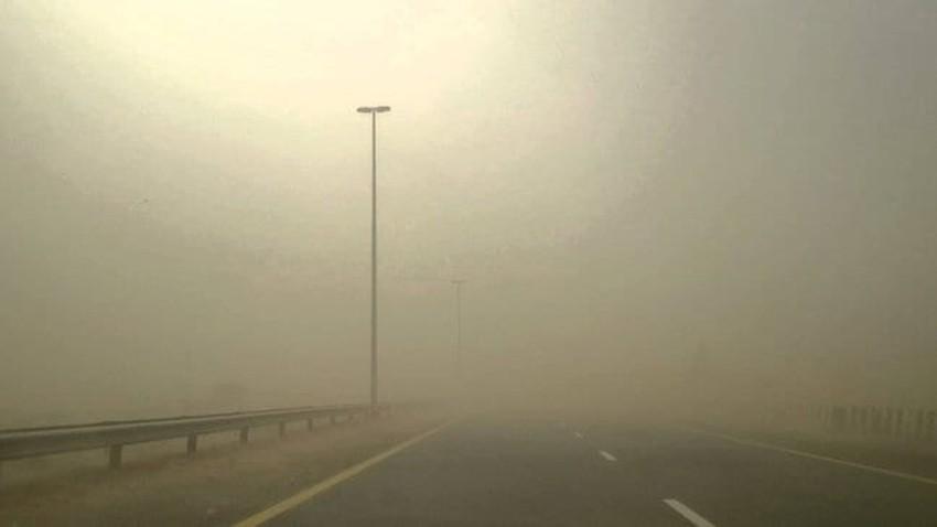 ازدياد تركيز الغبار بالأجواءو تنبيه لمرضى الجهاز التنفسي من خطر حدوث مضاعفات