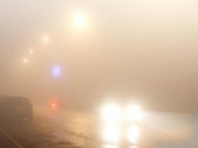 Dense fog in many parts of the Kingdom, and it is recommended to drive carefully on the roads