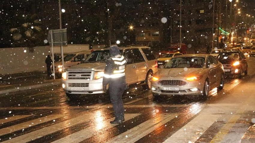 الأردن: حالة الطرق حتى الساعة العاشرة مساءً - الأربعاء 17/2/2021