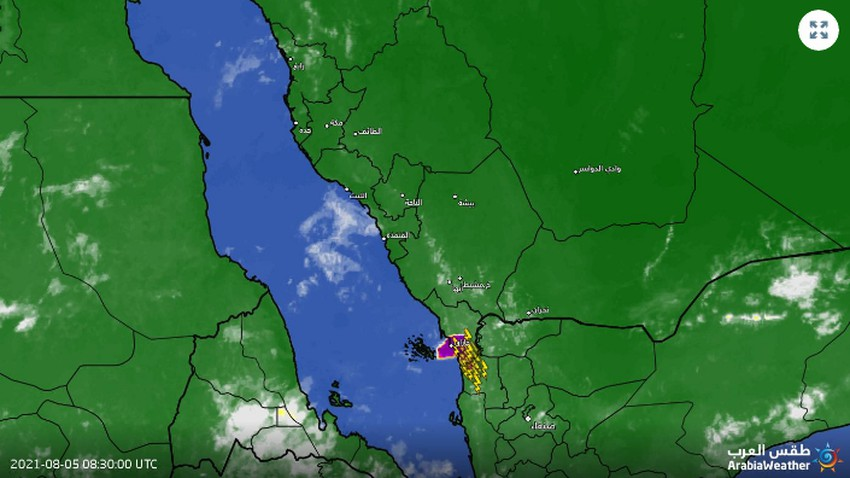تحديث 12:20م | بداية مبكرة للأمطار الغزيرة على أبو عريش وأحد المسارحة بجازان