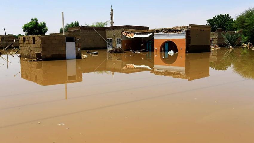انهيار مفاجئ لسد بوط على النيل الأزرق فى السودان وتدمير أكثر من 800 منزل