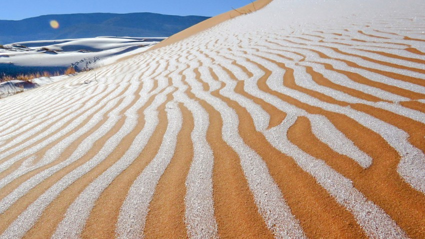 Rare snow covers the Sahara desert for the fourth time in 50 years