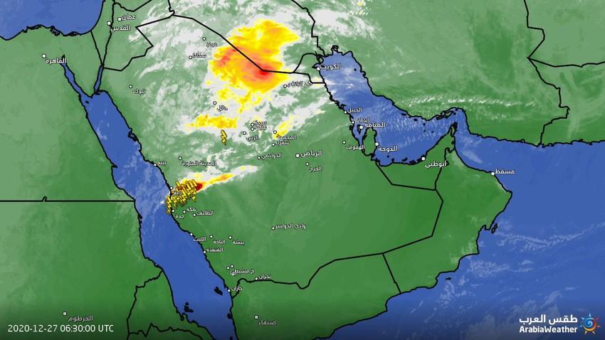 السعودية | مناطق جديدة تدخل في نطاق السحب الرعدية
