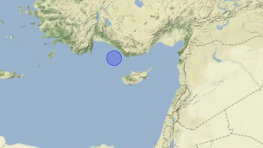 هزة ارضية بقوة 5.3 ريختر في الشمال الغربي لجزيرة قبرص وصل أثرها لبلاد الشام - التفاصيل