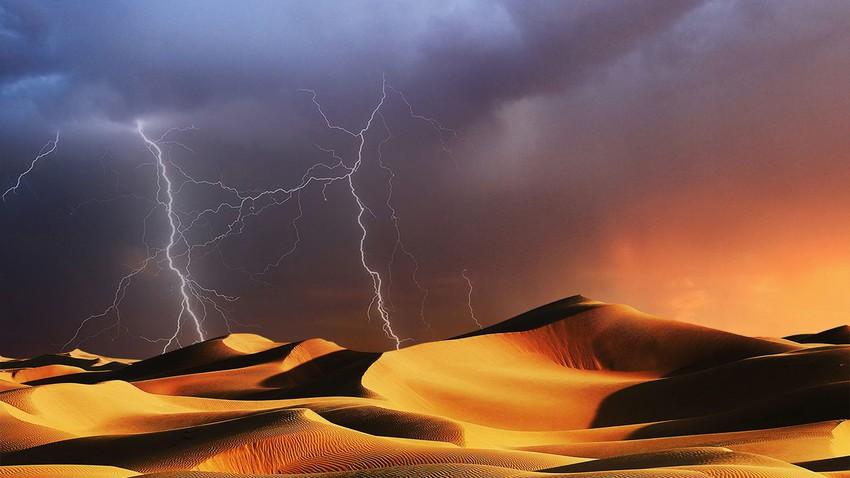 هام   تجدد الأمطار الرعدية على هذه المناطق يومي الأحد والإثنين