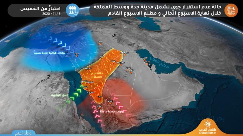 السعودية   تقلبات جوية منتظرة وفرصة للأمطار على مناطق واسعة قد تشمل مدينة جدة الأيام القادمة