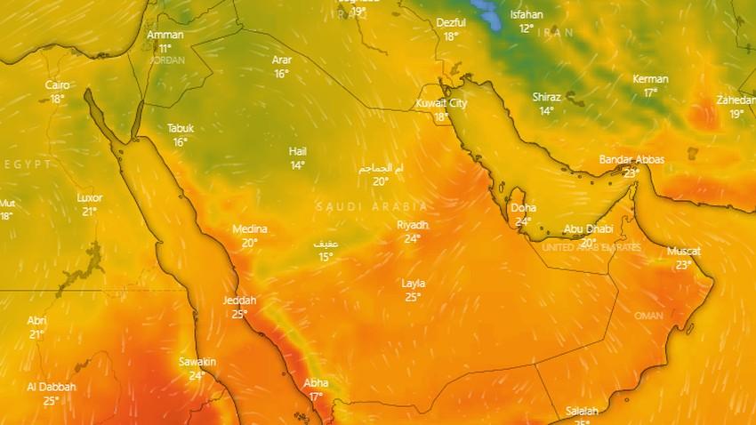 السعودية   في منتصف المربعانية .. الدفء سيسيطر على الرياض ووسط المملكة اعتباراً من الخميس
