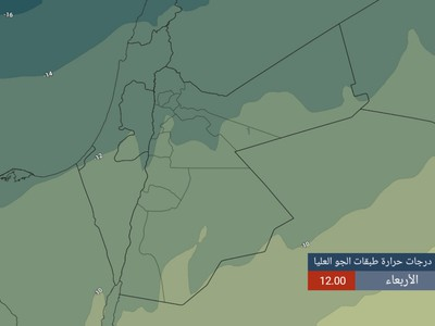 Low probability of local rain on the West Bank and parts of the Jordanian Badia on Wednesday