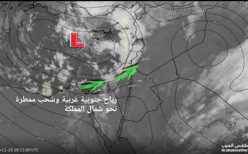 تحديث | سُحب ممطرة تؤثر على بعض مناطق شمال المملكة