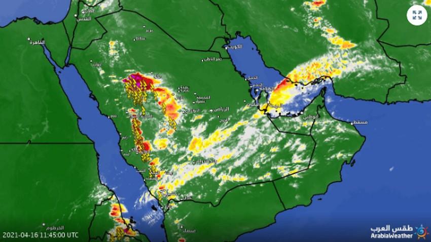 تحديث 3:20م | سُحب رعدية شديدة غرب حائل ترصدها الأقمار الإصطناعية