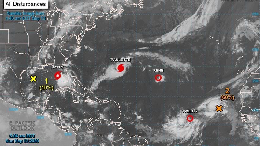 ثاني إعصار خلال شهر يستهدف ساحل الولايات المتحدة المطل على خليج المكسيك