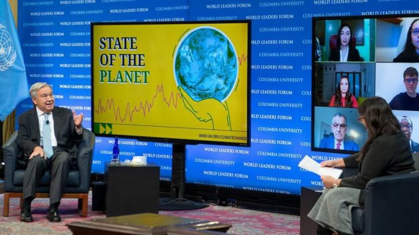"""الأمين العام للأمم المتحدة يدعو العالم إلى """"إعلان حالة طوارئ مناخية"""""""