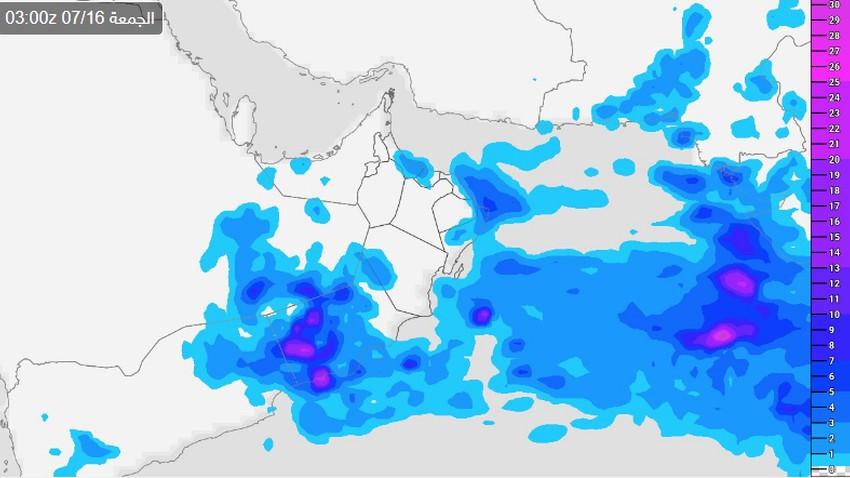 سلطنة عُمان | ليلة ماطرة تنتظر ظفار والأمطار تشتد غداً