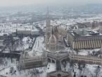 شاهد روعة الثلوج في بودابست من السماء
