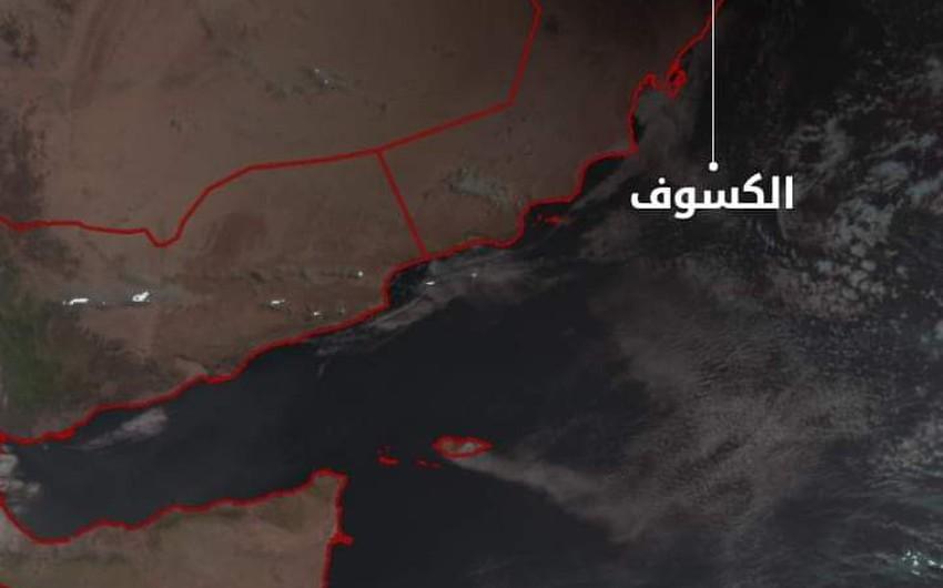 بالصور | كسوف الشمس كما ظهر عبر صور الأقمار الإصطناعية الخاصة بطقس العرب