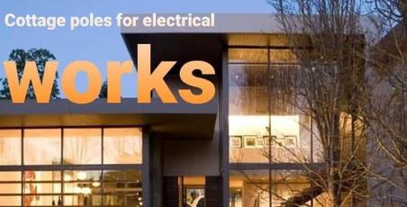 اعمدة الكوخ للاعمال الكهربائية